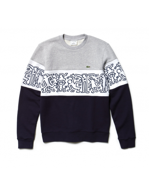 PRINT CREW NECK COLOURBLOCK...