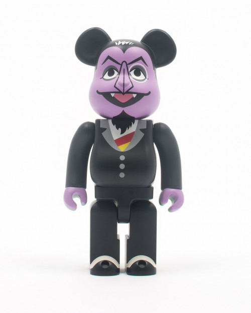 MEDICOM TOY BEARBRICK COUNT VON COUNT MUPPET 400% 400COUNT