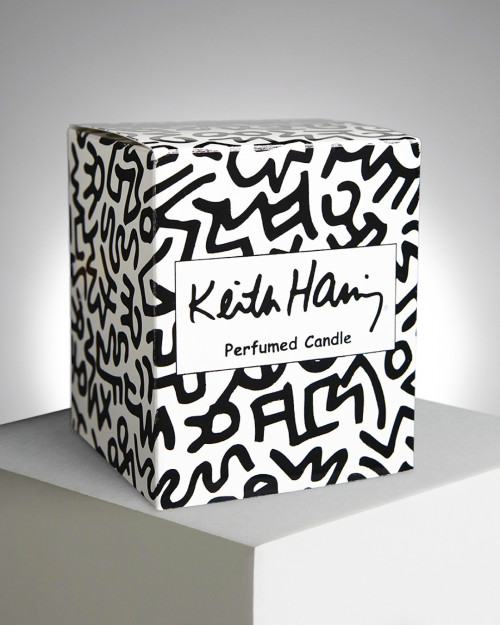 """LIGNE BLANCHE Keith HARING """"White & Black"""" perfumed candle PCKH21"""