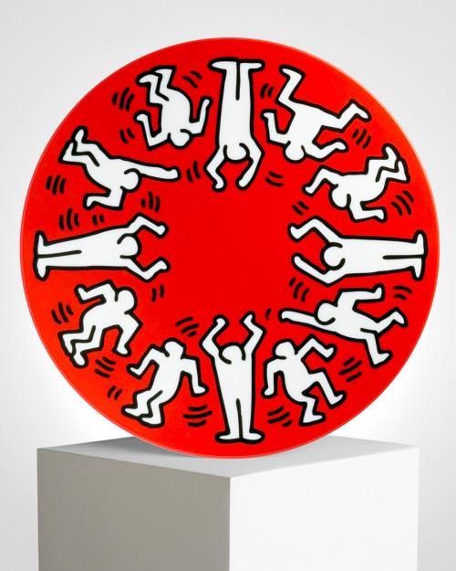 "KEITH HARING ""WHITE ON RED""..."