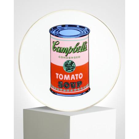 "LIGNE BLANCHE Andy WARHOL Porcelain plate - ""Campbell"" CAWAR09"