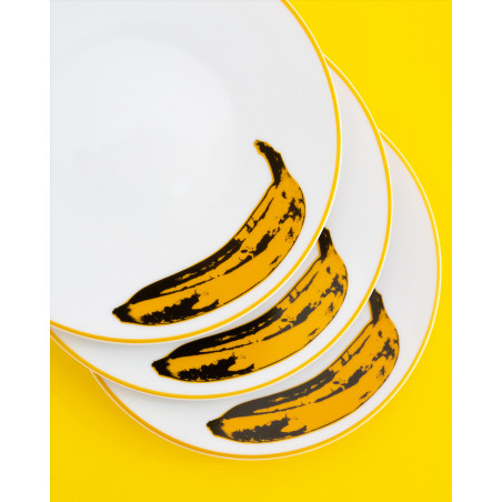 "LIGNE BLANCHE Andy WARHOL Porcelain plate ""Banana"" CAWAR40"