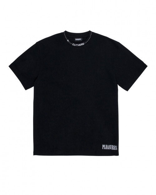 Pleasures CUT HERE HEAVYWEIGHT T-SHIRT P20W006_BL