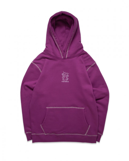 Victoria HK QH EMBROIDERED HOODIE 121-411-PUR