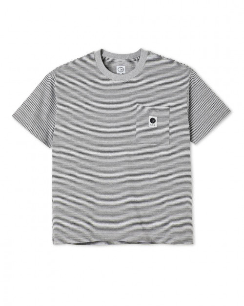 Polar Skate STRIPE POCKET TEE STRIPEPOCKET