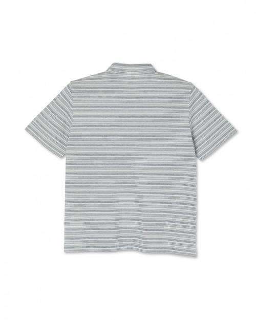 Polar Skate Co Multistripe polo shirt MULTISTRIPEBLUE