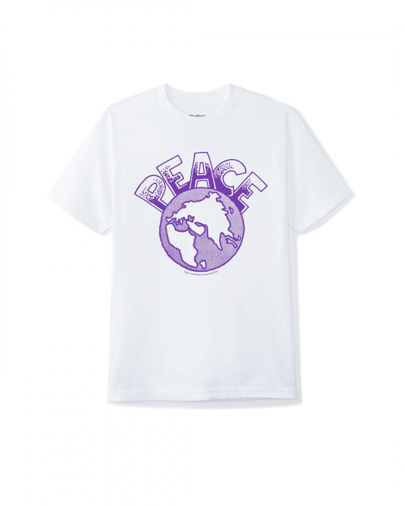Butter Goods Peace tee PEACETEEWHITE