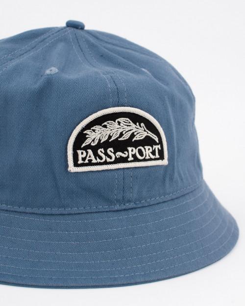 Passport QUILL PATCH 6 PANEL BUCKET CAP QUILLBUCKETBLUE