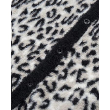 Huf SNOW LEOPARD CARDIGAN KN0039309-WHITE