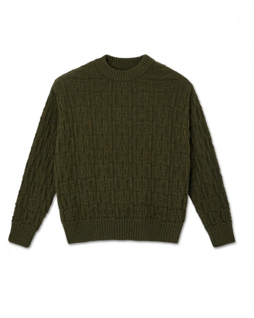 SQUARE KNIT SWEATER